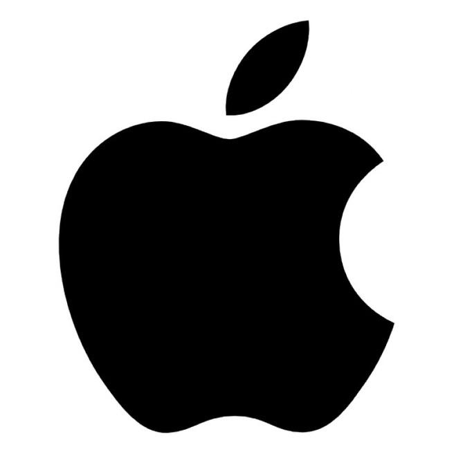 Apple logo zwart-wit
