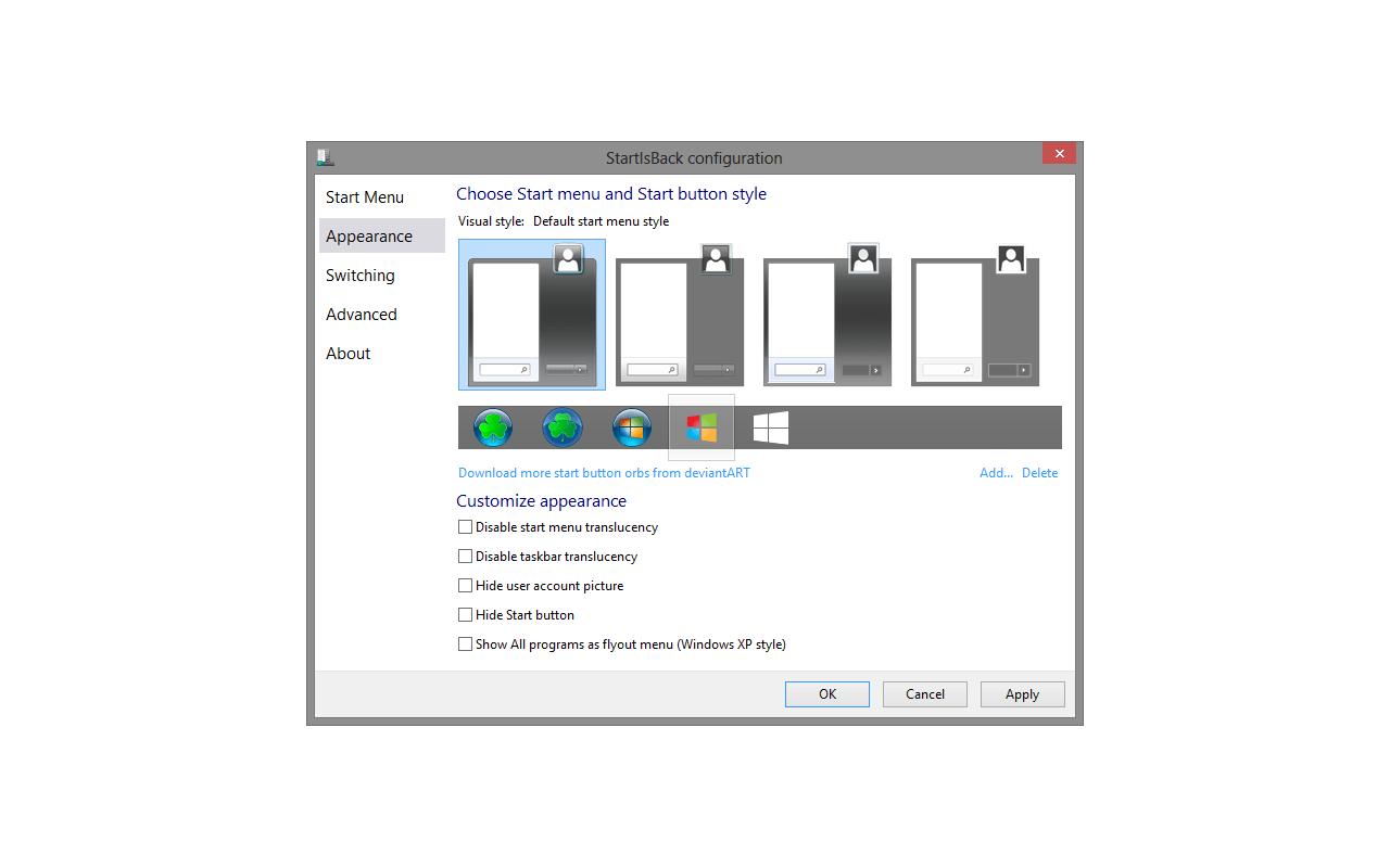 StartIsBack 2.1 screenshot