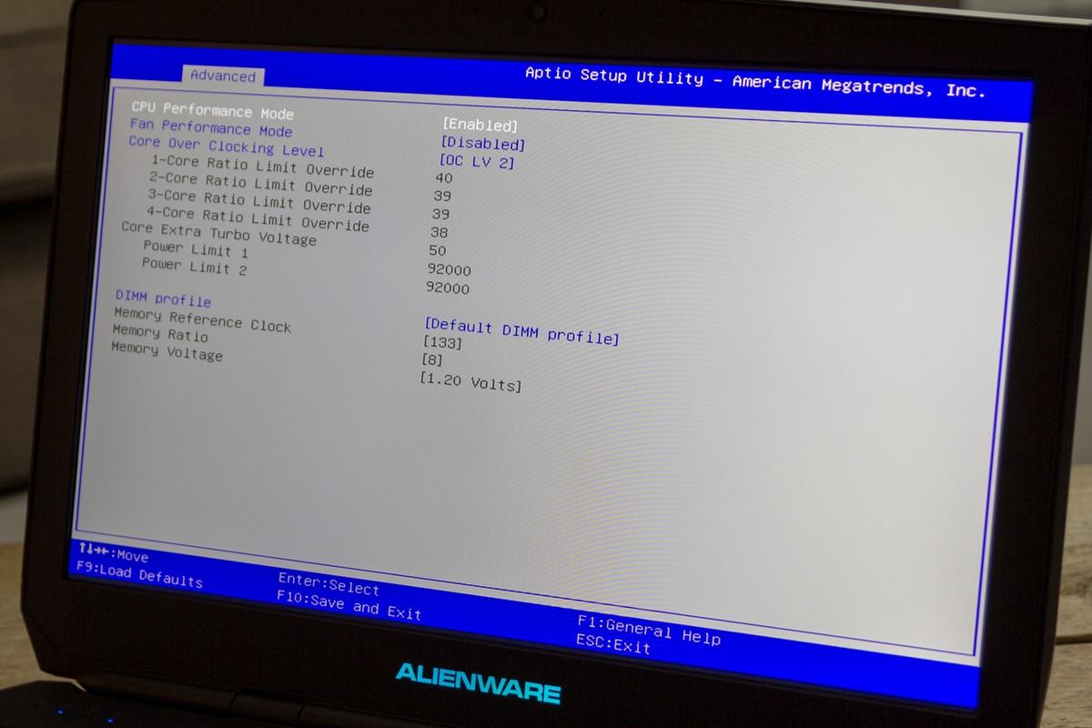 Alienware bios-käynnistysvaihtoehdot :: kurerita ga