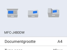 Android scan menu