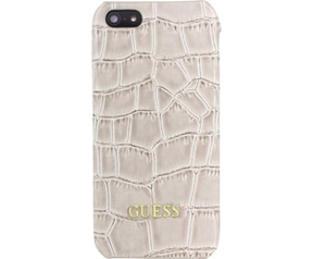 Guess Croco PU Leather Hard Case - Apple iPhone 5/5S/SE - Beige Beige
