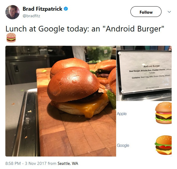 Google serveert Android-burger