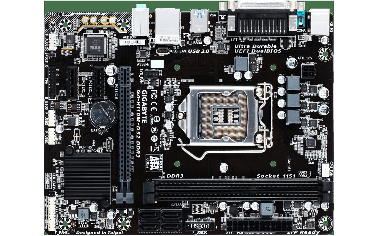 Gigabyte GA-H110M-DS2 DDR3 - Specificaties - Tweakers