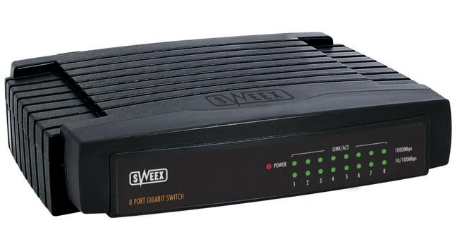Sweex SW108 8 Poort Gigabit Switch