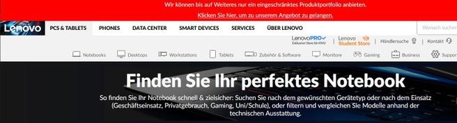 Lenovo: verkoopstop Duitsland, oktober 2020