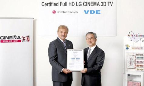 Cinema 3D full hd 3d certificaat DVE