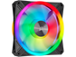 Goedkoopste Corsair iCUE QL140 RGB PWM Single Fan Zwart, 140mm