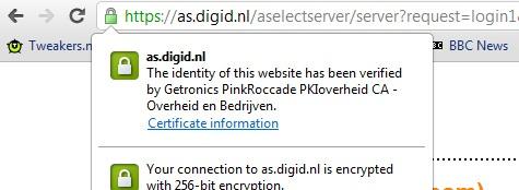DigiD-certificaat