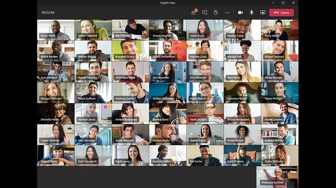 Aanpasbare achtergronden en 7x7-grid in Microsoft Teams