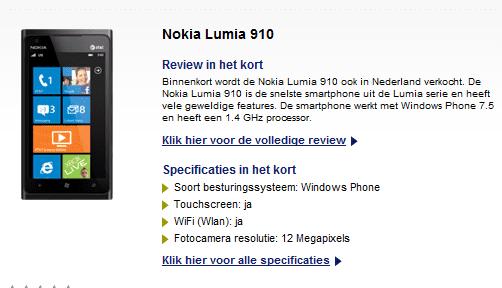 Lumia 910 op Typhone