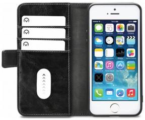 Mobilize Classic Gelly BookCase - Apple iPhone 5/5S/SE - Zwart  Zwart