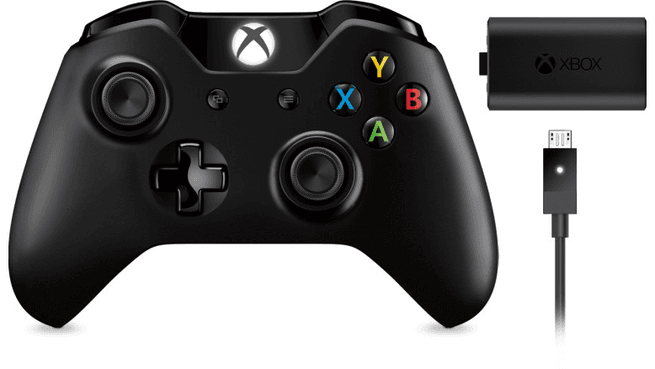 Microsoft Xbox One Wireless Controller met Play & Charge Kit Zwart, Xbox One