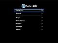 Safari HD menu