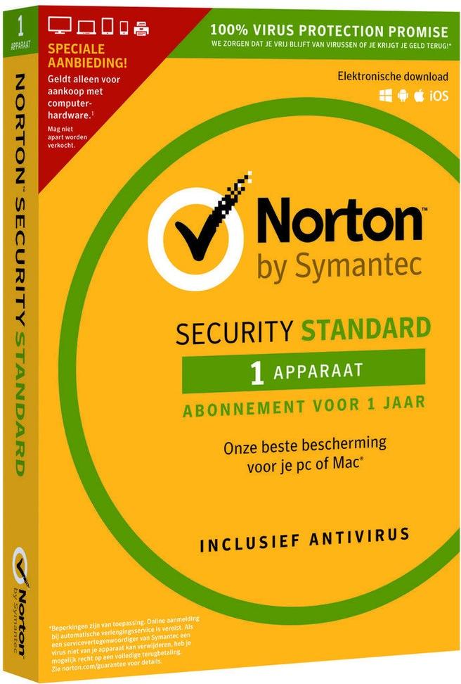Norton Security Standard 3.0 NL, 1u 1 Device, Attach