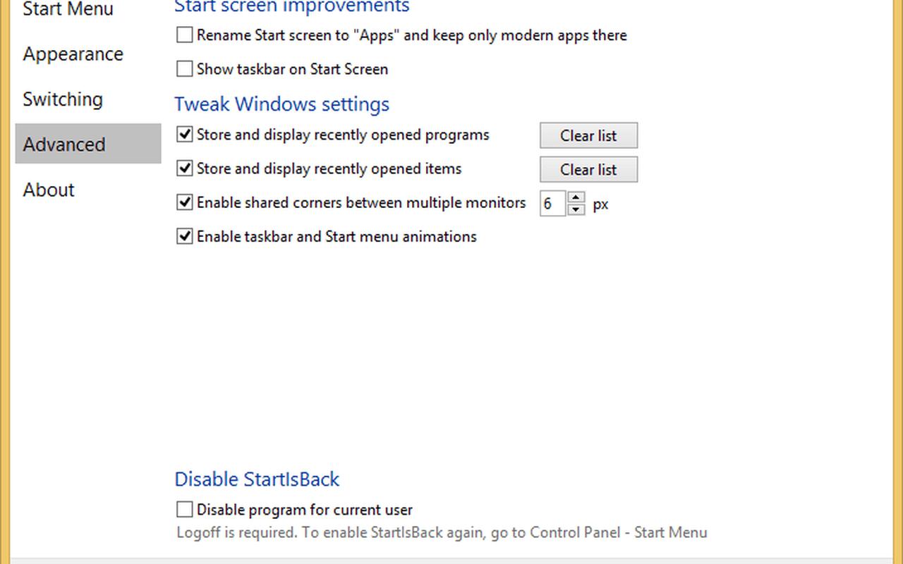 StartIsBack+ 1.0.4 screenshot