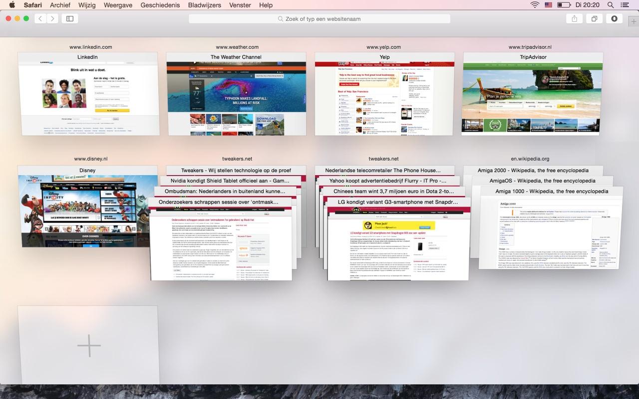 Apple OS X Yosemite Safari