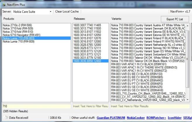 Navifirm met WP 7.8-updates