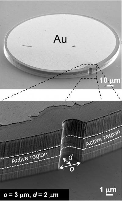 Harvard-microlasers met inkeping