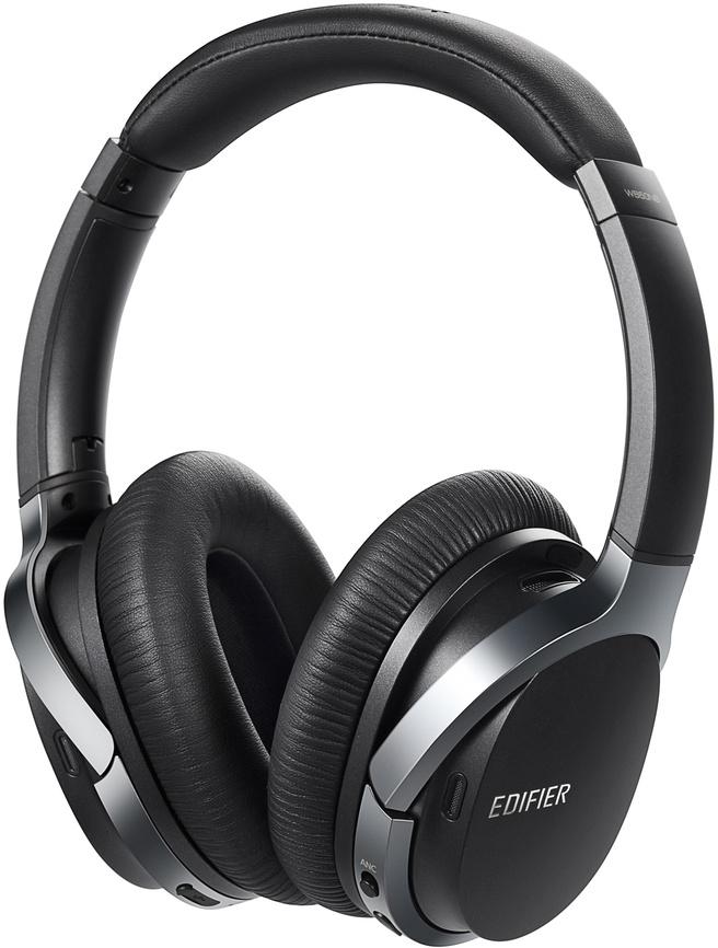 Edifier W860NB Active Noise Cancelling (ANC) Bluetooth hoofdtelefoon (Grijs, Platinumgrijs)