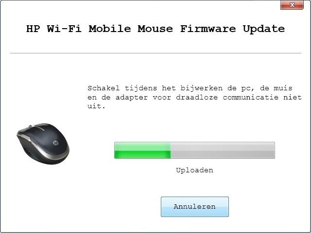 Firmware update bleef hangen op 33 procent