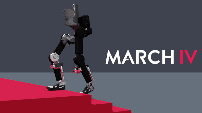 Exoskelet dwarslaesie-patiënt March IV