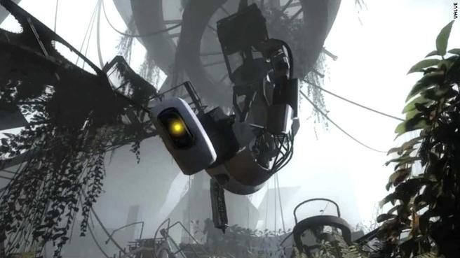 Glados uit Portal 2 voor HTC Vive Preview