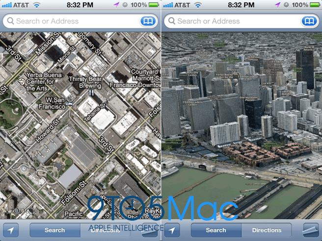 Mockup: Apples eigen kaartenprogramma voor iOS 6
