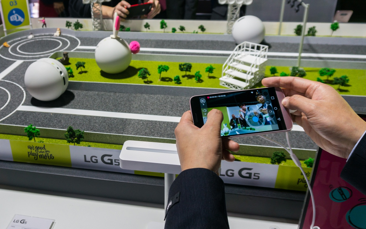 LG Rolling Bot productfoto's