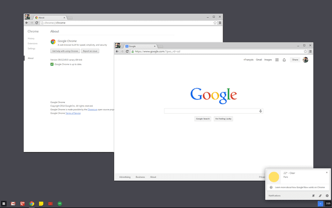 Chrome OS-modus in WIndows 7