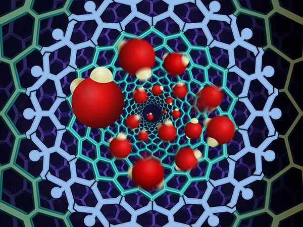 koolstofnanobuisje water