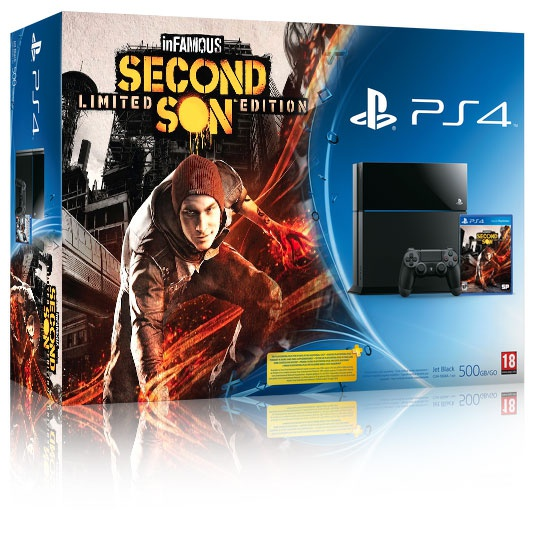 Sony PlayStation 4 + Infamous: Second Son Zwart