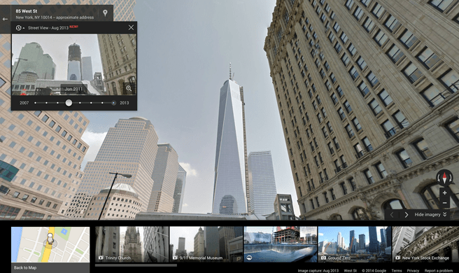 Time Machine in Street View