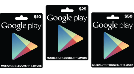 Google Play giftcards
