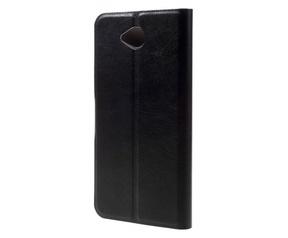 Kees Lederlook Portemonnee Hoesje Microsoft Lumia 650 - Zwart