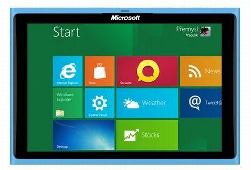 Mockup: tablet Microsoft