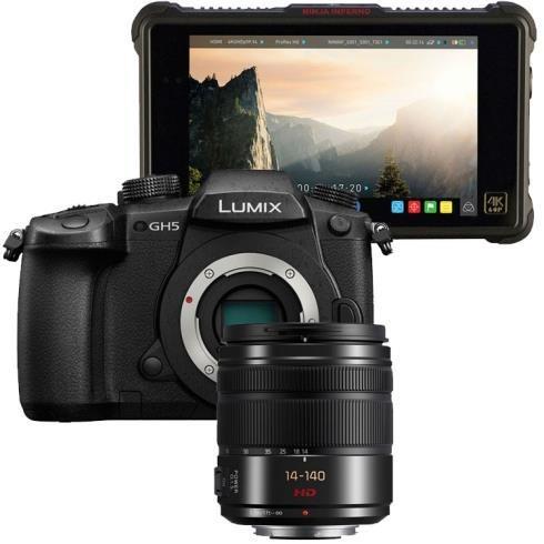 Panasonic Lumix G DC-GH5 + 14-140mm f/3.5-5.6 + Atomos Ninja Inferno Zwart