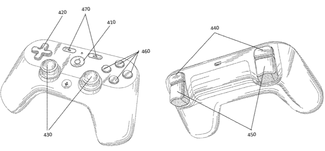 Google gamecontroller patent