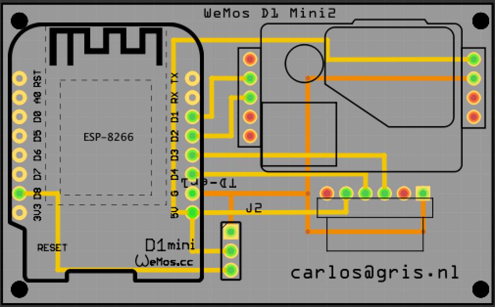 ESP env monitor PCB