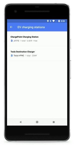 Google Maps Toont Informatie Over Oplaadpunten Voor Elektrische