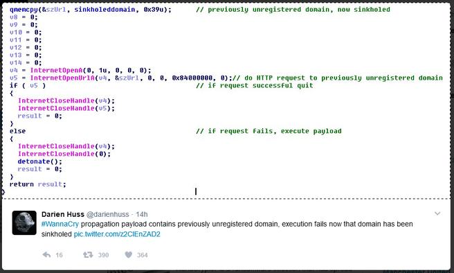 Code killlswitch WannaCry