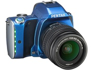 Goedkoopste Pentax K-S1 Fabric Collection + DA 18-55mm f/3,5-5,6 AL Blauw
