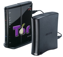 Mockup: Buffalo-router met Tor (bron: Technology Review)