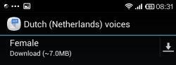 Nederlands in Google tts