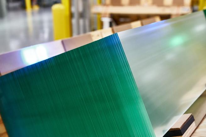 Glas in fabriek van Corning