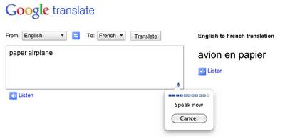 Chrome 11 - spraakinput
