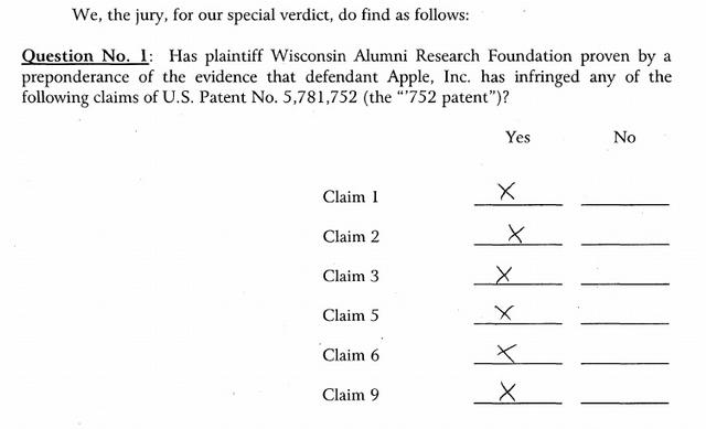Apple is schuldig