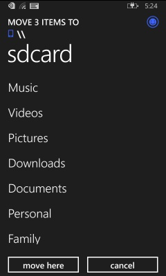 Filemanager Windows Phone 8.1