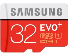 Samsung EVO Plus 32GB microSDHC Card + SD-adapter