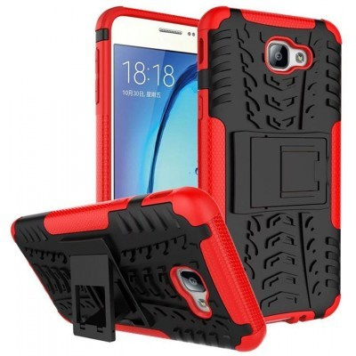 qMust Samsung Galaxy A5 (2017) Rugged Hybrid Case - Dual Protection - Rood