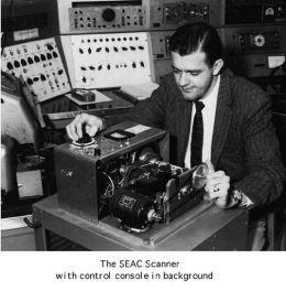 SEAC-scanner voor eerste digitale foto's, 1957